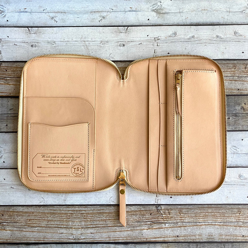 "Leather Zip Organizer // William Morris ""Little Chints"""