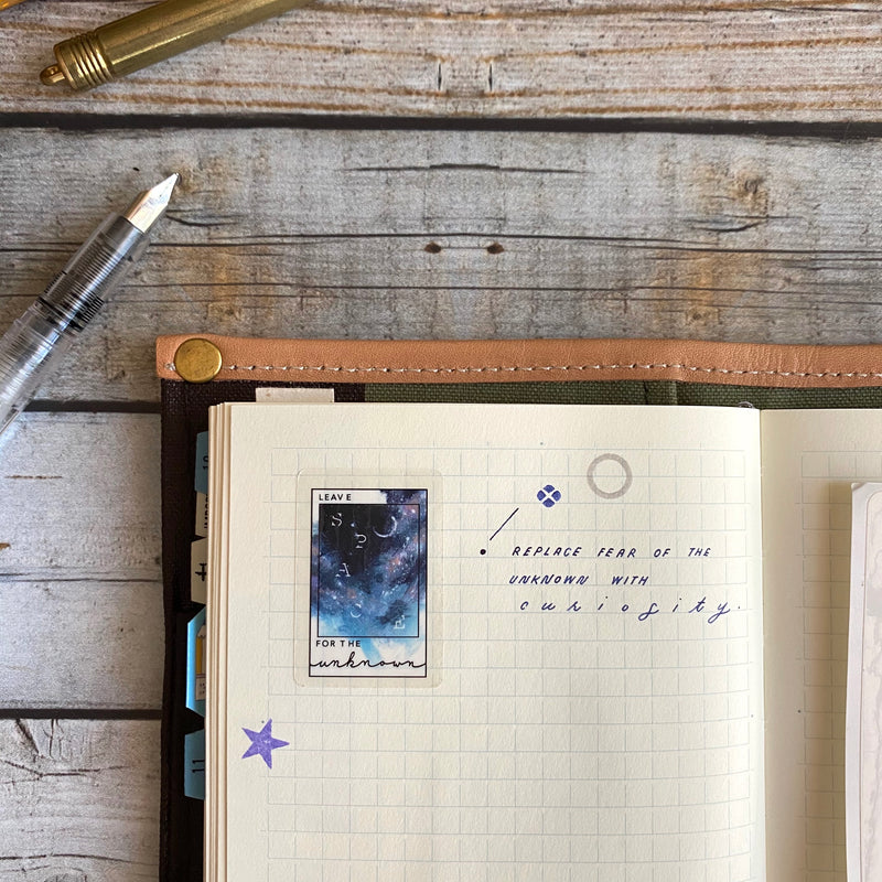 Planner Sticker / Leave Space for the Unknown