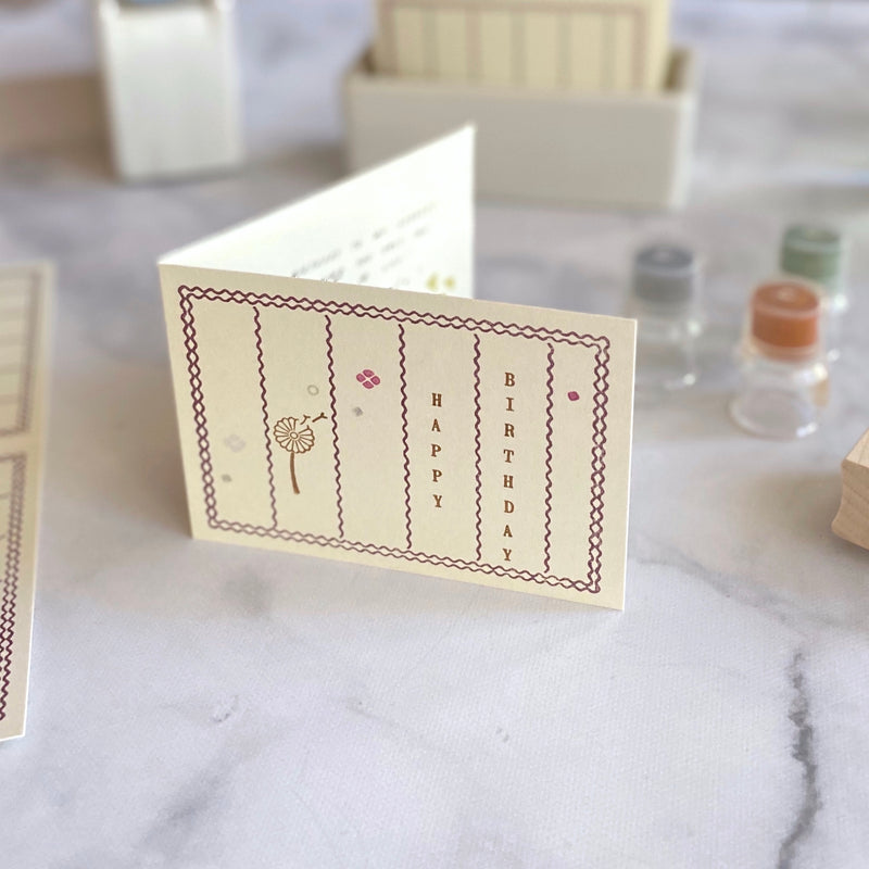 Letterpress Folded Memo Card
