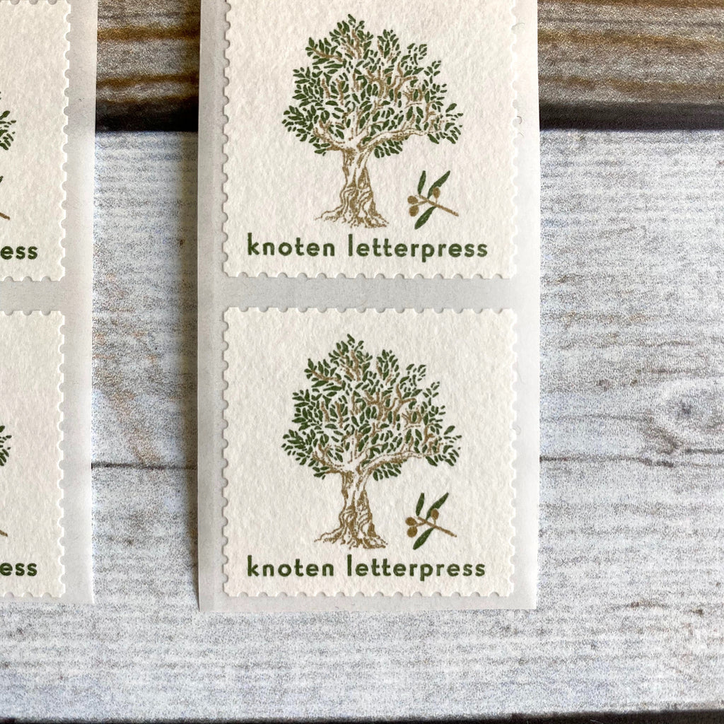 Postage Sticker // Olive