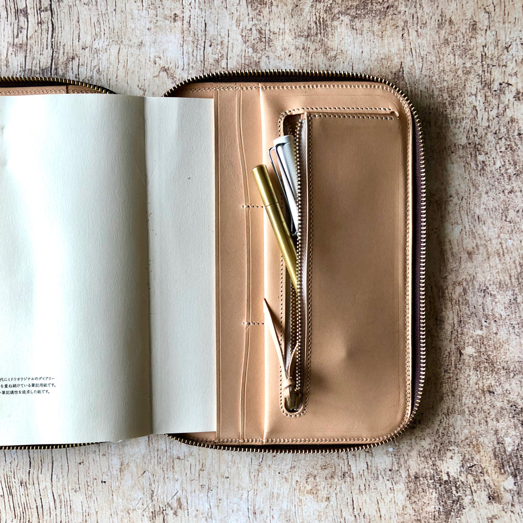 Leather Zip Organizer // Brown