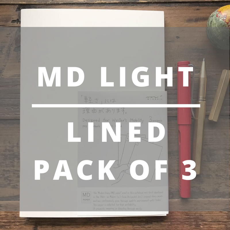 MD LIGHT Notebook // A5 (pack of 3)