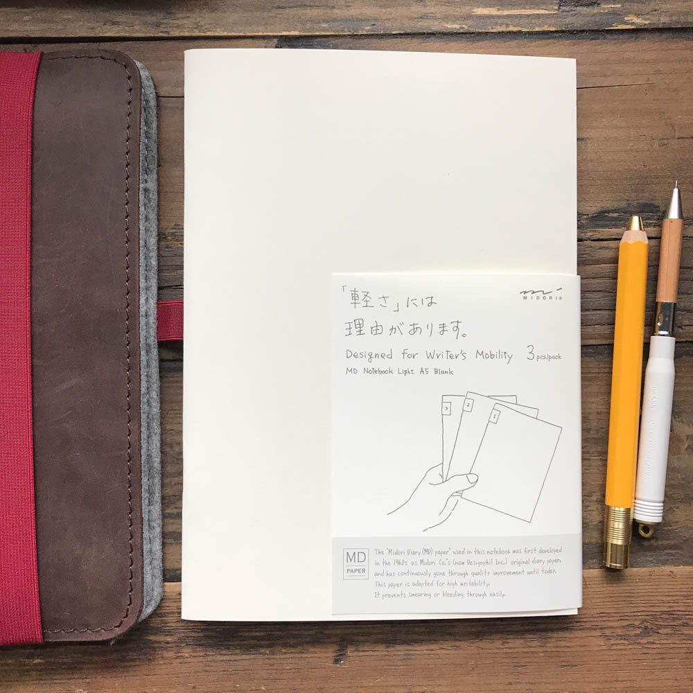 MD LIGHT Notebook / A5 (pack of 3)