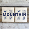 Postage Stamp Seal // Mountain