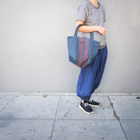 ateliers PENELOPE / Line Tote with Navy Canvas