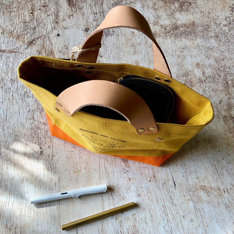 TSL Petite Tote / Yellow Canvas [CUSTOM ORDER]