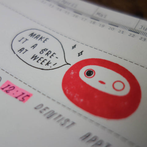 "DARUMA ""make it happen"" stamp"