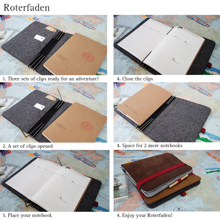 Roterfaden A6 / Black