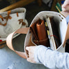 The Superior Labor Petite Tote / Natural canvas with leather bottom [PRE-ORDER]