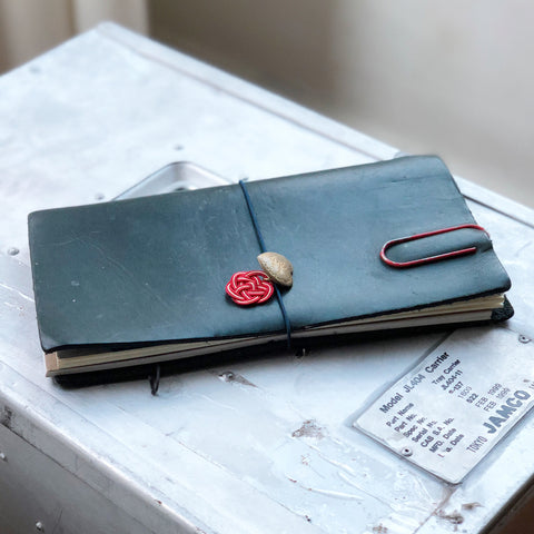 [TSLxBK] Travel for Life Wallet // Gray Canvas with Aqua