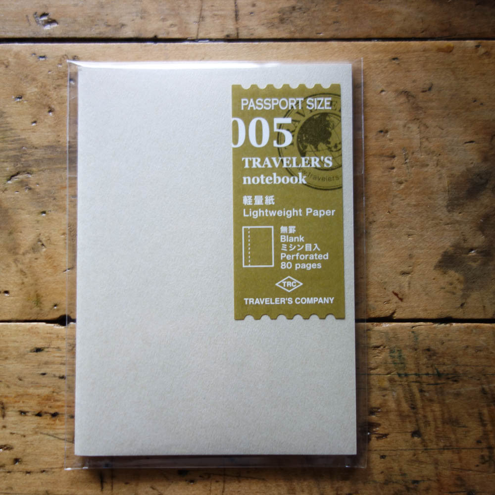 TN PASSPORT Refill / 005 / Lightweight Tomoe River Paper