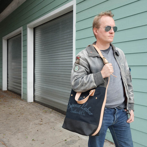TSL 2-way Tote / Black canvas with Black paint [PRE-ORDER]