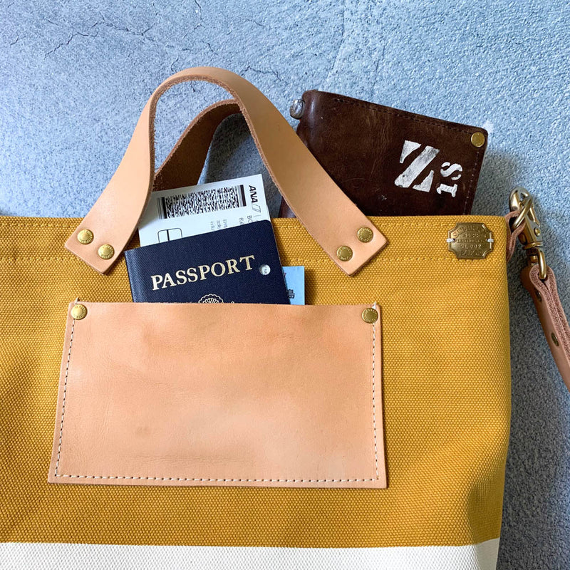 TSL Analogue Bag || Mustard Canvas with White Paint [PRE-ORDER]