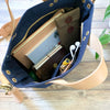TSL Analogue Bag || Navy Canvas with White Paint [PRE-ORDER]
