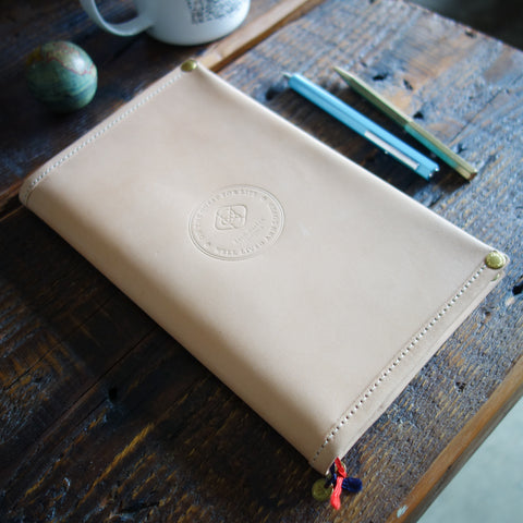 [TSLxBK] JIBUN Techo Cover A5 SLIM // Peacock Blue with Olive Gray