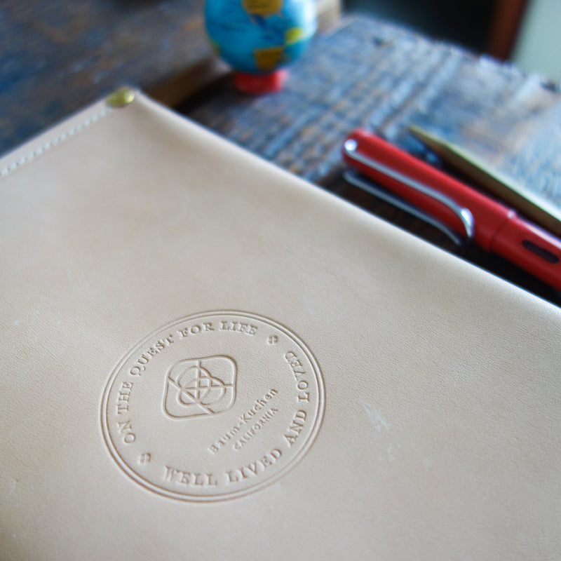[TSLxBK] All Leather Notebook Cover // A5
