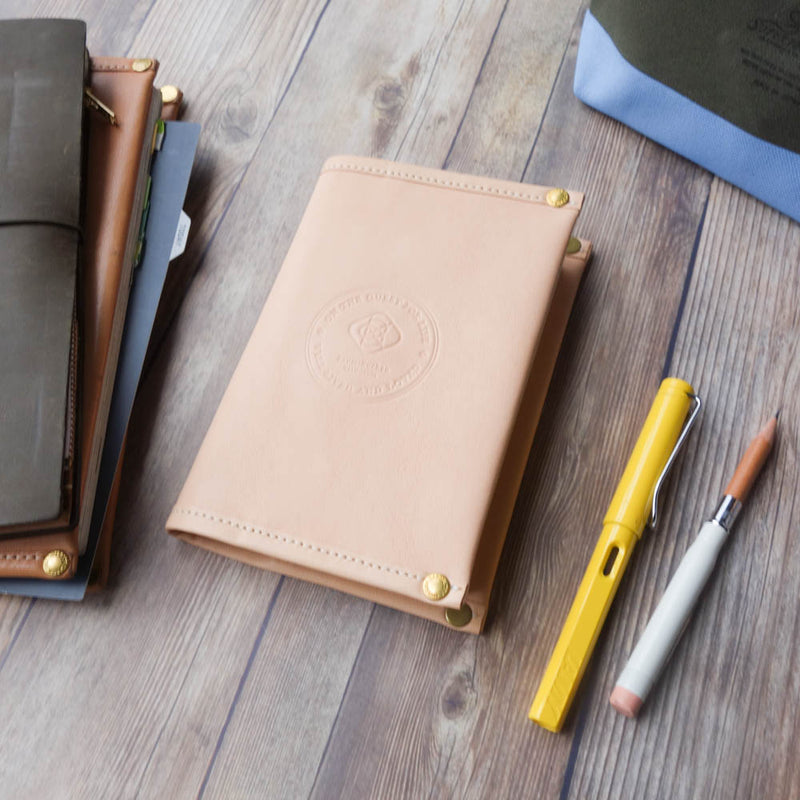[TSLxBK] All Leather Notebook Cover // A6
