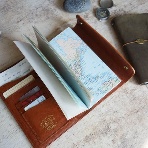 PASSPORT Travel for Life Wallet // Sand Canvas with Red