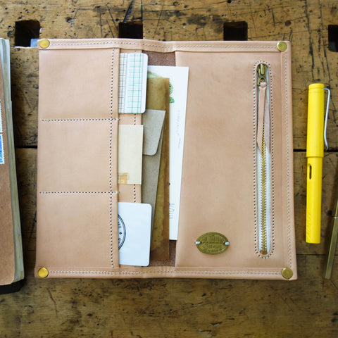 "Leather Zip Organizer // William Morris ""Bullerswood"""