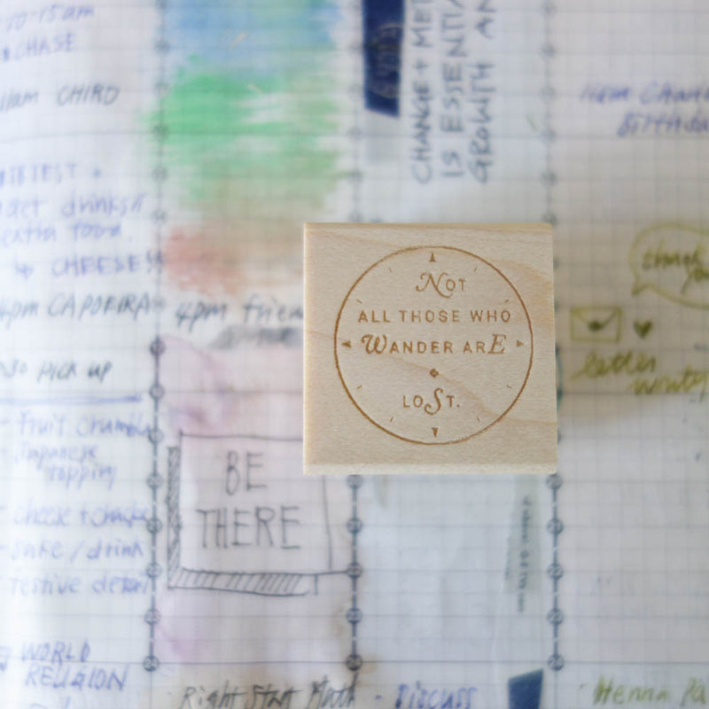 """Not All Those Who Wander are Lost"" stamp"