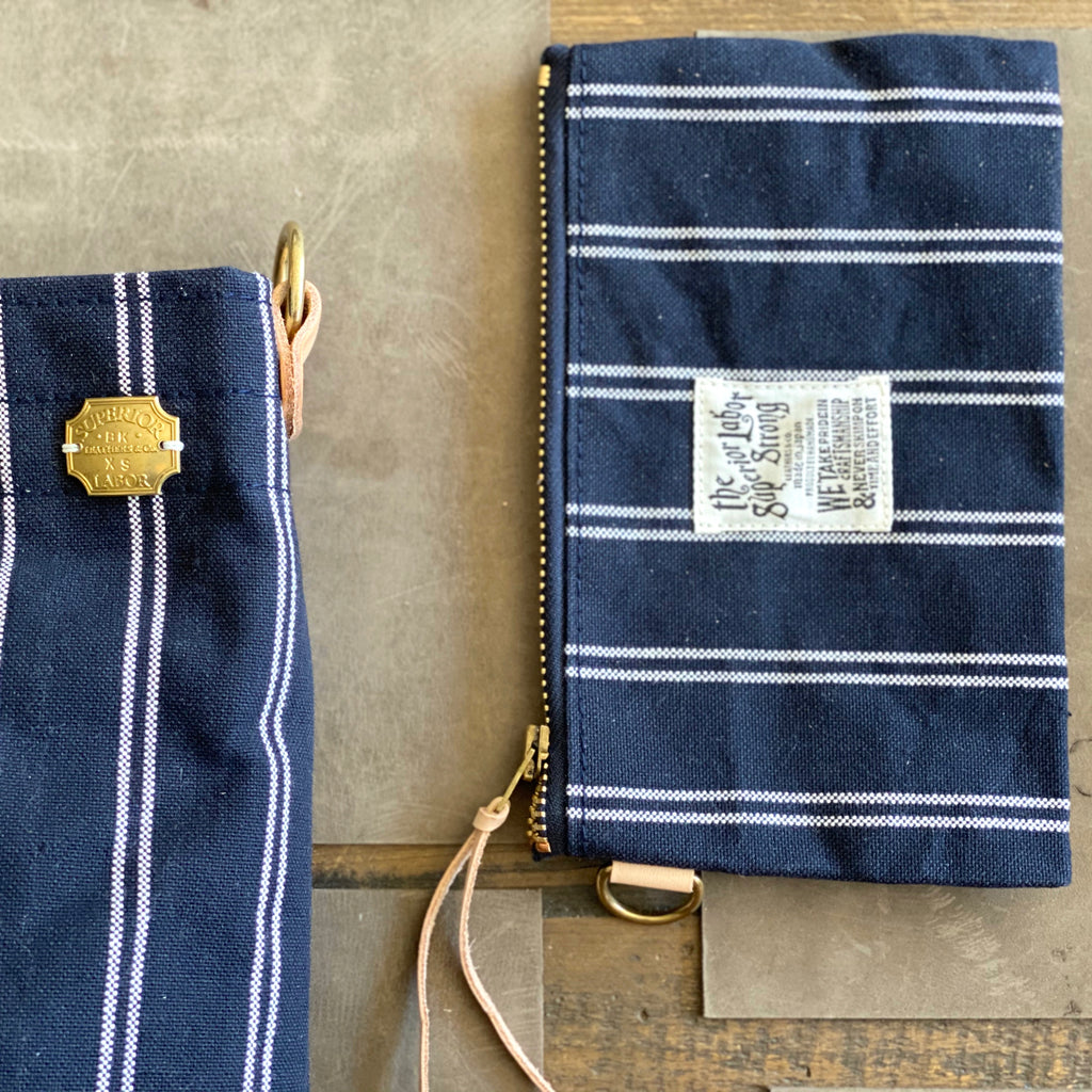 Engineer Shoulder Bag XS || Navy Stripe