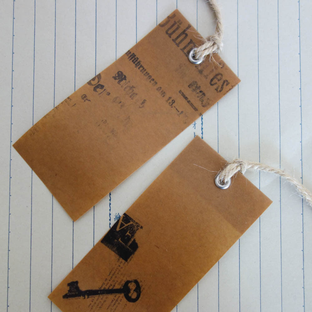 Wax Paper Tag (2 pieces)