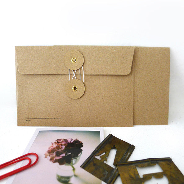 Kraft Envelope with String