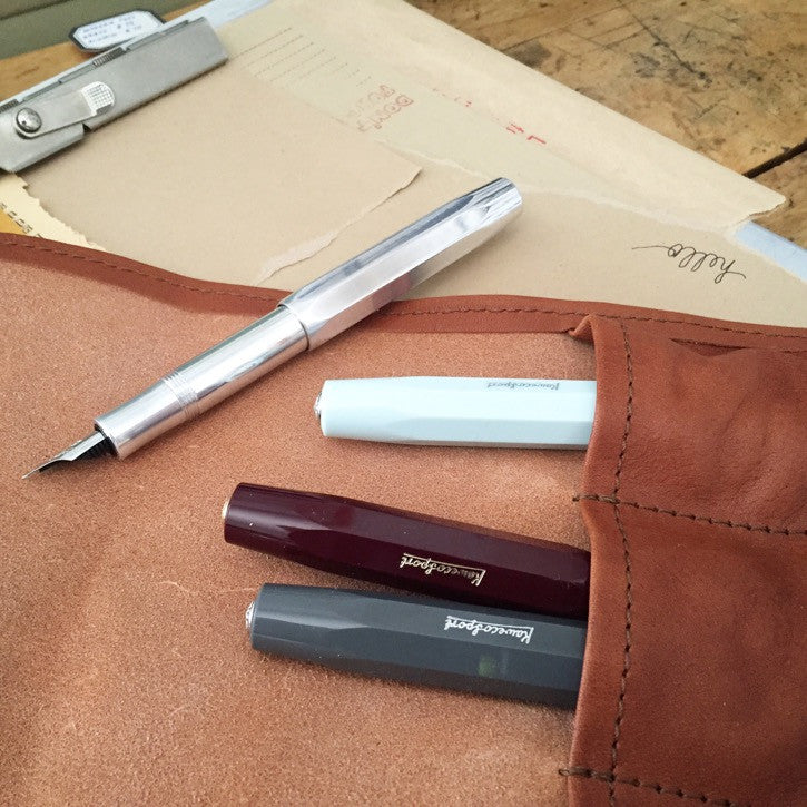 Leather Pen Roll