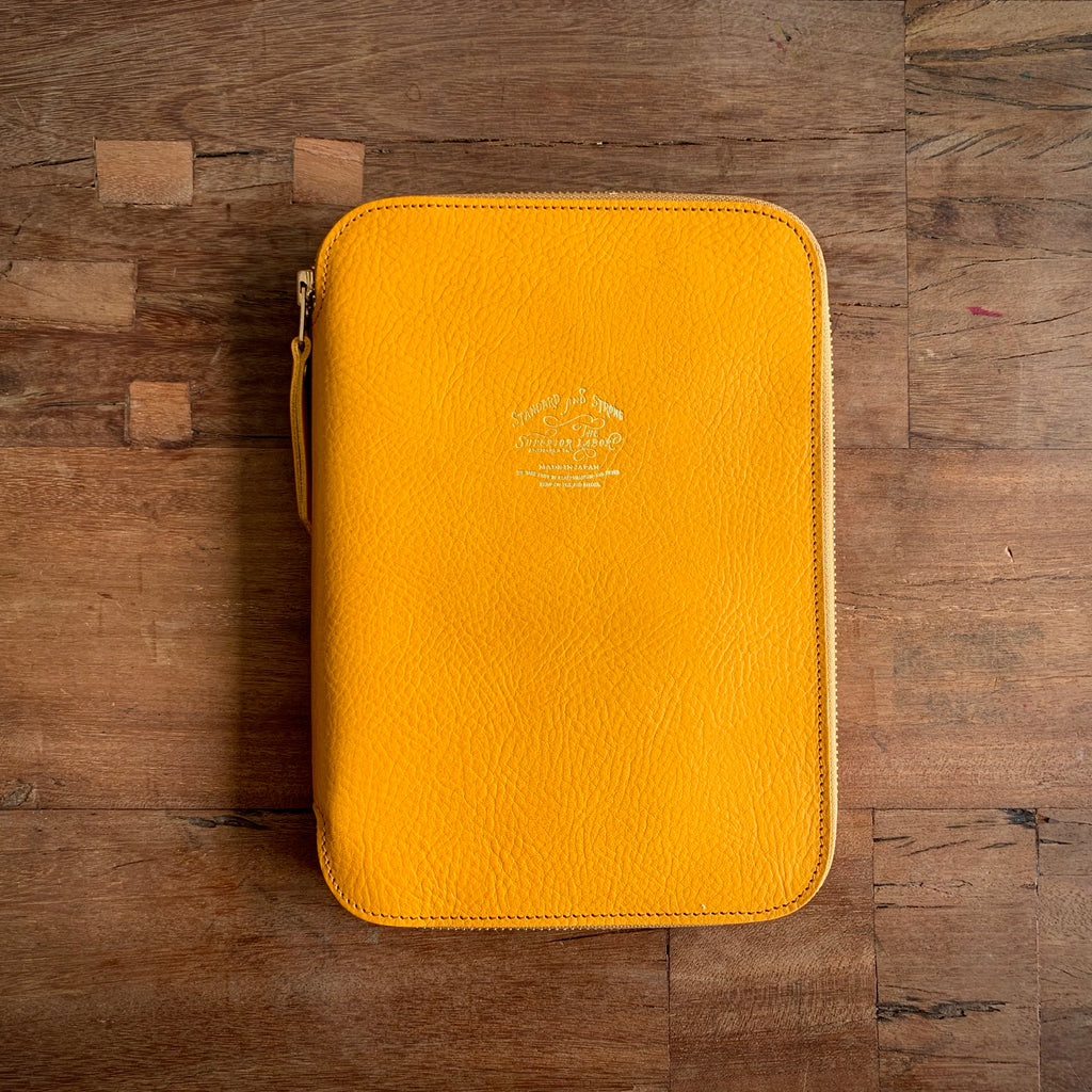 Leather Zip Organizer // Yellow