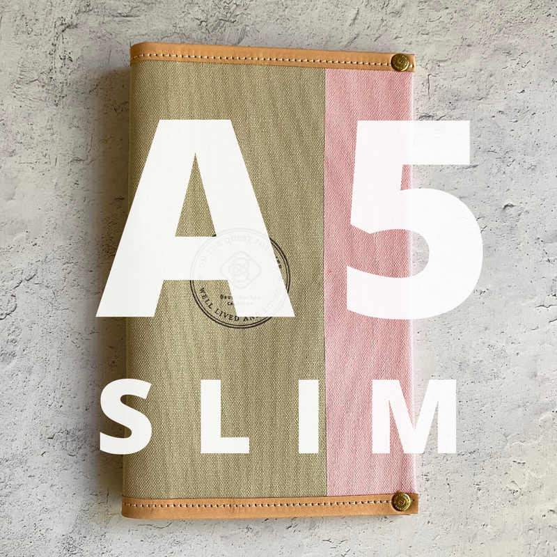 A5 Slim Jibun Cover // Rose Latte