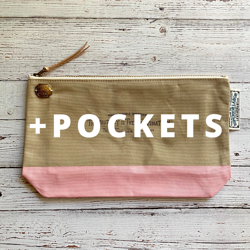 Engineer Pouch w/ Pockets || Rose Latte [PRE-ORDER]