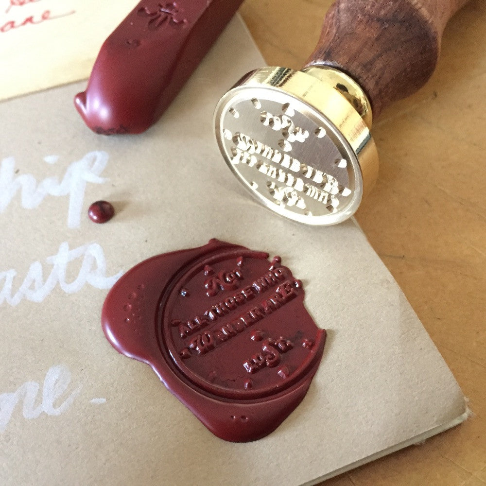 "Wax Seal ""Not All Those Who Wander are Lost"""