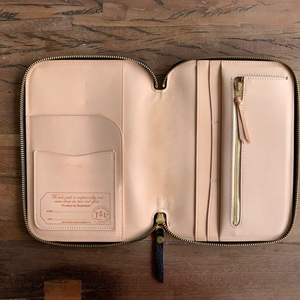 Leather Zip Organizer // Black