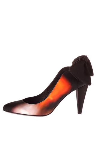 Blurred Lights Satin Heel Carven Shoes - Another Love