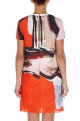 Printed Shantung Dress Carven Dress - Another Love