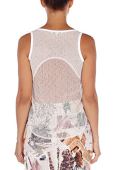 Taffeta Lace Top Carven Tops - Another Love