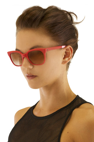Red Futura Sunglasses