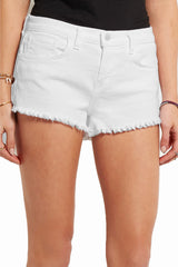 L'Agence Zoe Fray Short with 5 Pockets and Zip and Button Closure