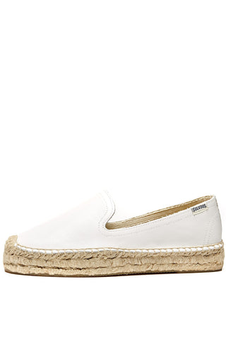White Leather Espadrille Soludos Shoes - Another Love