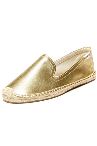 Platinum Leather Espadrille