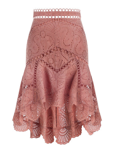 ZIMMERMANN JASPER FAN SKIRT