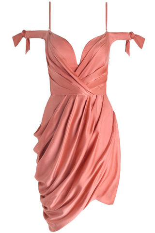 Winsome Drape Cocktail Dress