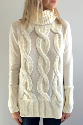 Motif Turtleneck Jumper
