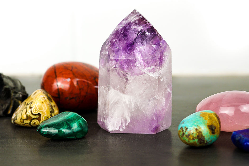 Amethyst Point Raw Stones Clear Quartz Point Chakra Amazonite Point Energy Clearing Healing Stones Reiki Metaphysical Gifts