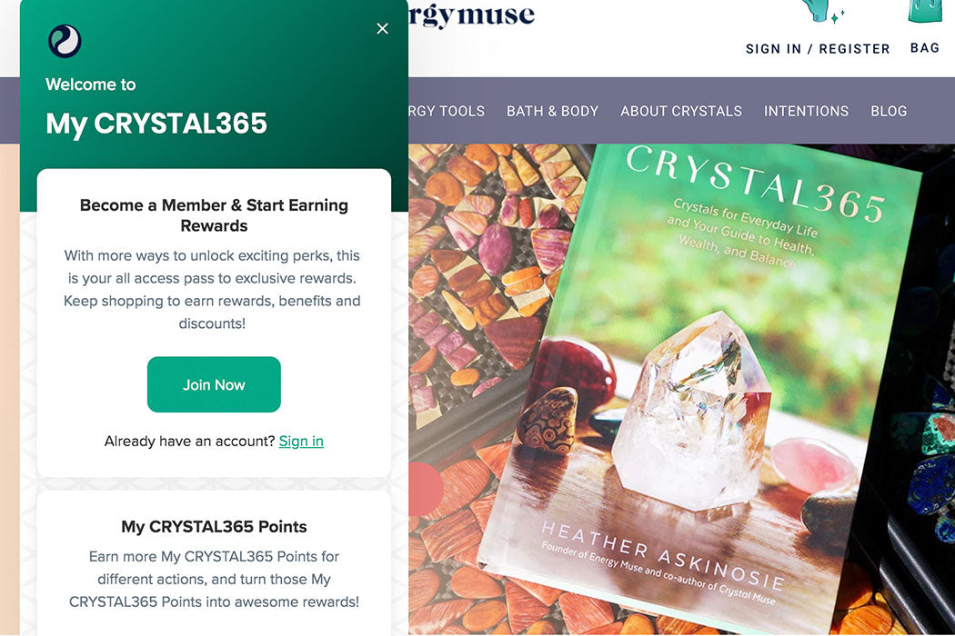 Have You Signed Up for My CRYSTAL365 Rewards?