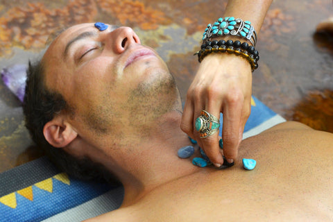 Throat Chakra Healing with Crystals and Stones