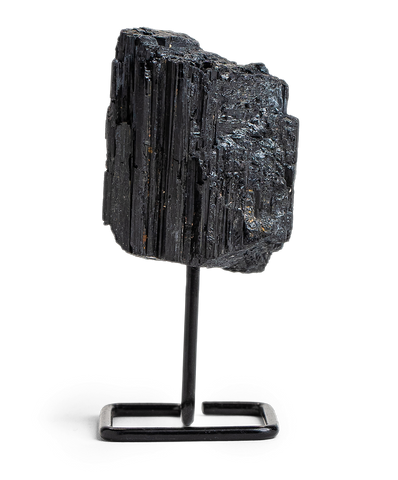 Black Tourmaline Crystal on a Stand - Energy Muse