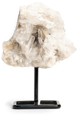 Clear Quartz Cluster on a Stand - Energy Muse
