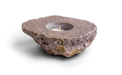 Lepidolite Candle Holder - Energy Muse