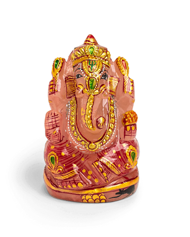 Rose Quartz Ganesh Statue - Energy Muse